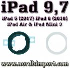 Apple Original iPad 9,7/Air/Mini 3 hjemknapp pakning -sett HVIT