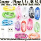 3M Lightning kabel til iPhone 6S, 6S+, 6, 6+, 5S, 5, 5C, iPad