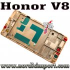 Huawei Original Honor V8 front ramme - GULL