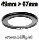 49mm - 67mm Step-up Filter adapterring