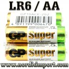 GP Super AA/LR6 batterier 2 Stk.