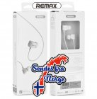 Remax - Comfort shape in-ear hodetelefoner - HVIT