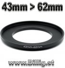 43mm - 62mm Step-up adapter ring