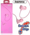 Remax - Comfort shape in-ear hodetelefoner - ROSA