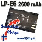 LP-E6 Batteri til bl.a Black Magic, 80D,7D2, 7D, 6D, 5D4