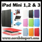 3 i 1 Smart Case & Smart Cover til iPad Mini 1-3 - Svart