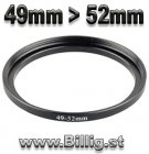 49mm - 52mm Step-up Filter adapterring