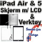 Apple Original iPad Air & iPad 5 (2017) LCD & HVIT Skjerm