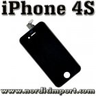 iPhone 4S Skjerm - Glass, LCD & Touch Screen - SVART