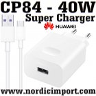 40W Huawei Original CP84 Super Charger m/ Org. USB kabel