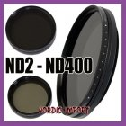 58mm ND fader filter ND2 - ND400