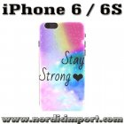Hardt deksel til iPhone 6 & 6S - Stay Strong