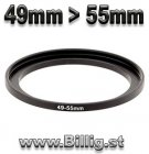 49mm - 55mm Step-up Filter adapterring