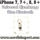 iPhone 7, 7+, 8, 8+ Universal Hjemknapp u/ Bluetooth - GULL