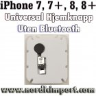iPhone 7, 7+, 8, 8+ Universal Hjemknapp u/ Bluetooth - SVART