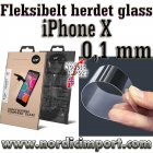 Fleksibelt 9H 0,1mm herdet glass til iPhone X