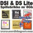 Spillebrikke m/ 8GB for DSi, XL (1.45) & DS Lite