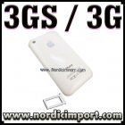 Hvitt bakdeksel & SIM tray til iphone 3GS / 3G