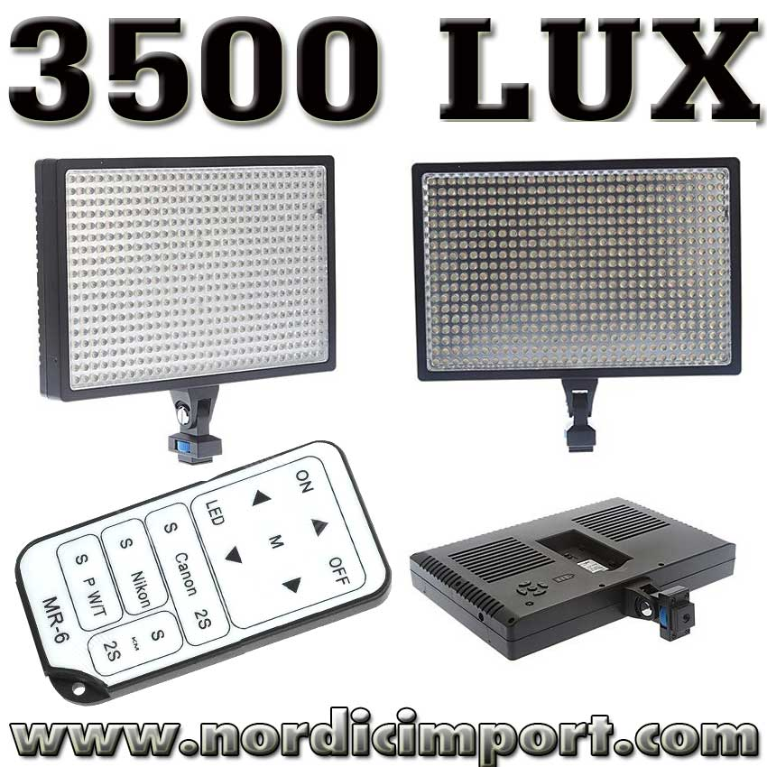 LED 3500 Lux video lys m/ fjernutl�ser