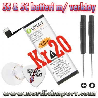 Lagertømming! 5S og 5C batterier kun kr 20 stk Mange flere tilbud tikommer. Kan bli fort utsølgt.