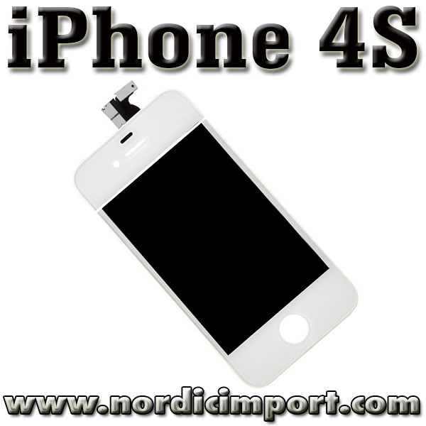 iPhone 4S Skjerm - Glass, m/ ORG. LCD & Touch Screen - HVIT