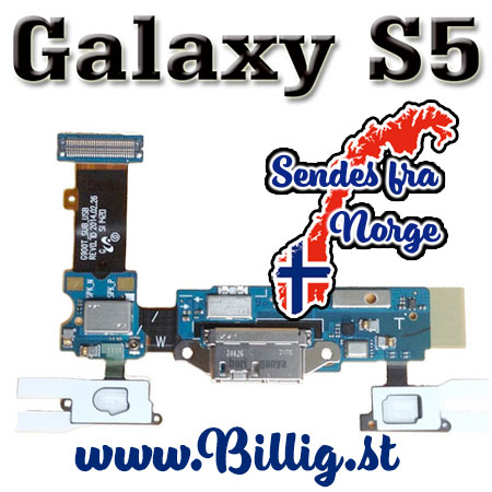Galaxy S5 Micro USB - data/ladeport & mikrofon flex kabel
