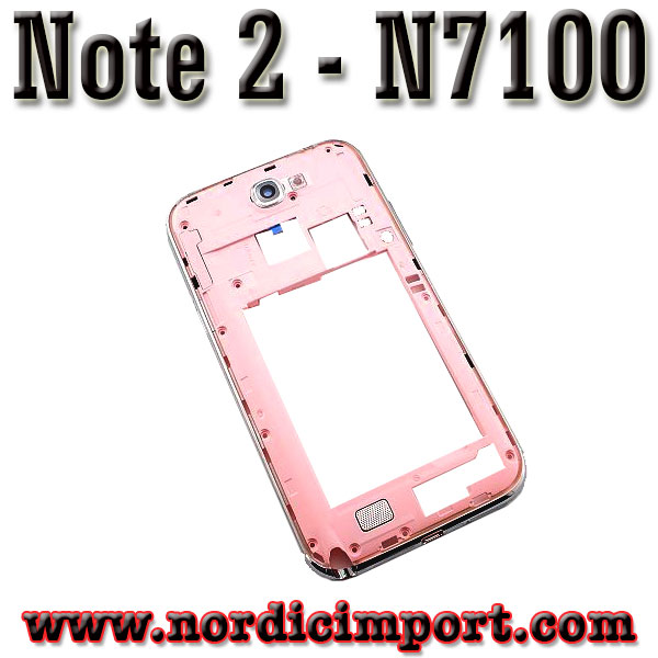 Original Galaxy Note2 N7100 Middle ramme - rosa