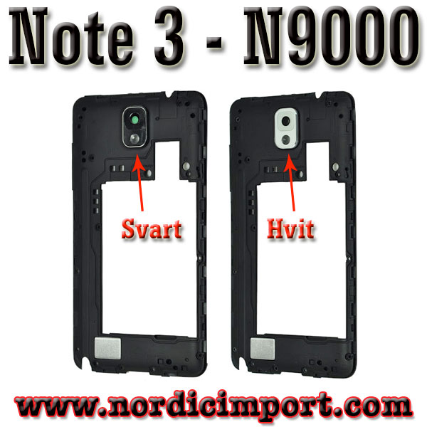 Original Galaxy Note3 N9000 Middle ramme - Hvit