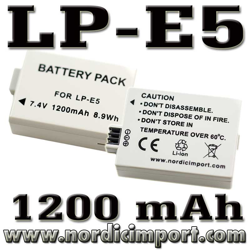 LP-E5 1200 mAh batteri for 450D / 500D / 1000D