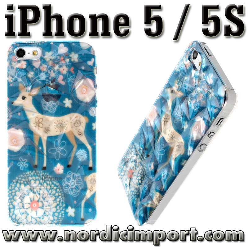 3D deksel til iPhone 5 / 5S - R�dyr