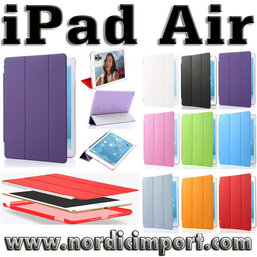 3 i 1 Smart Case & Smart Cover til iPad Air - Lilla