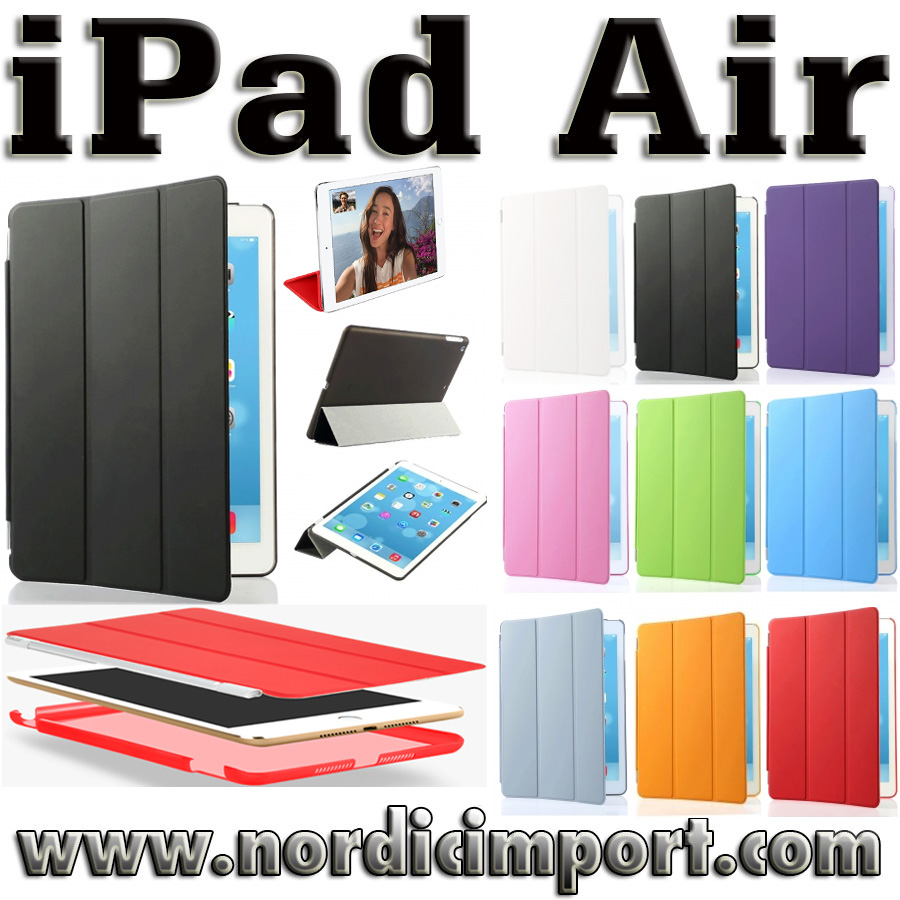 3 i 1 Smart Case & Smart Cover til iPad Air - Svart