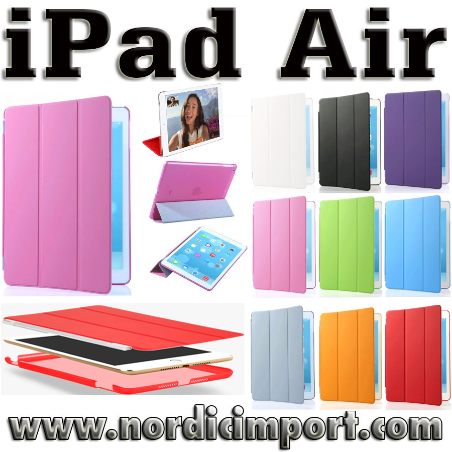 3 i 1 Smart Case & Smart Cover til iPad Air - Rosa