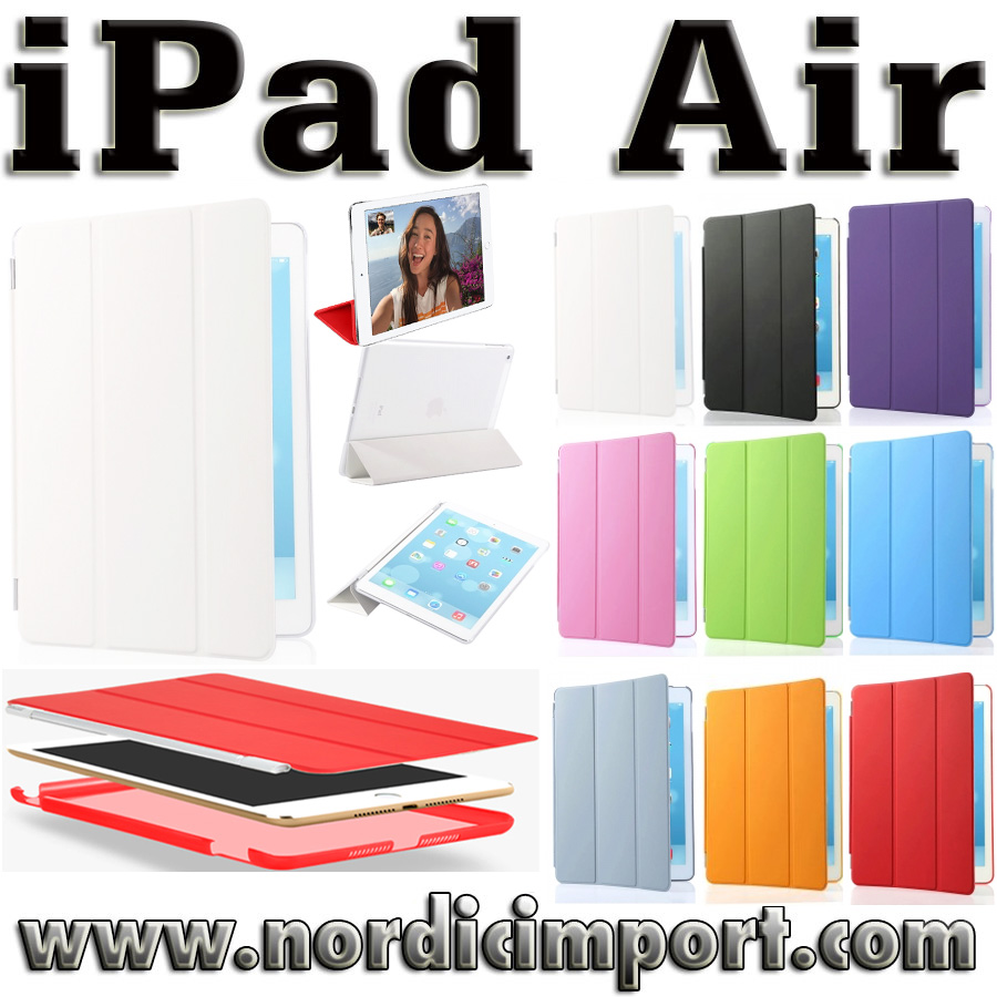 3 i 1 Smart Case & Smart Cover til iPad Air - Hvitt