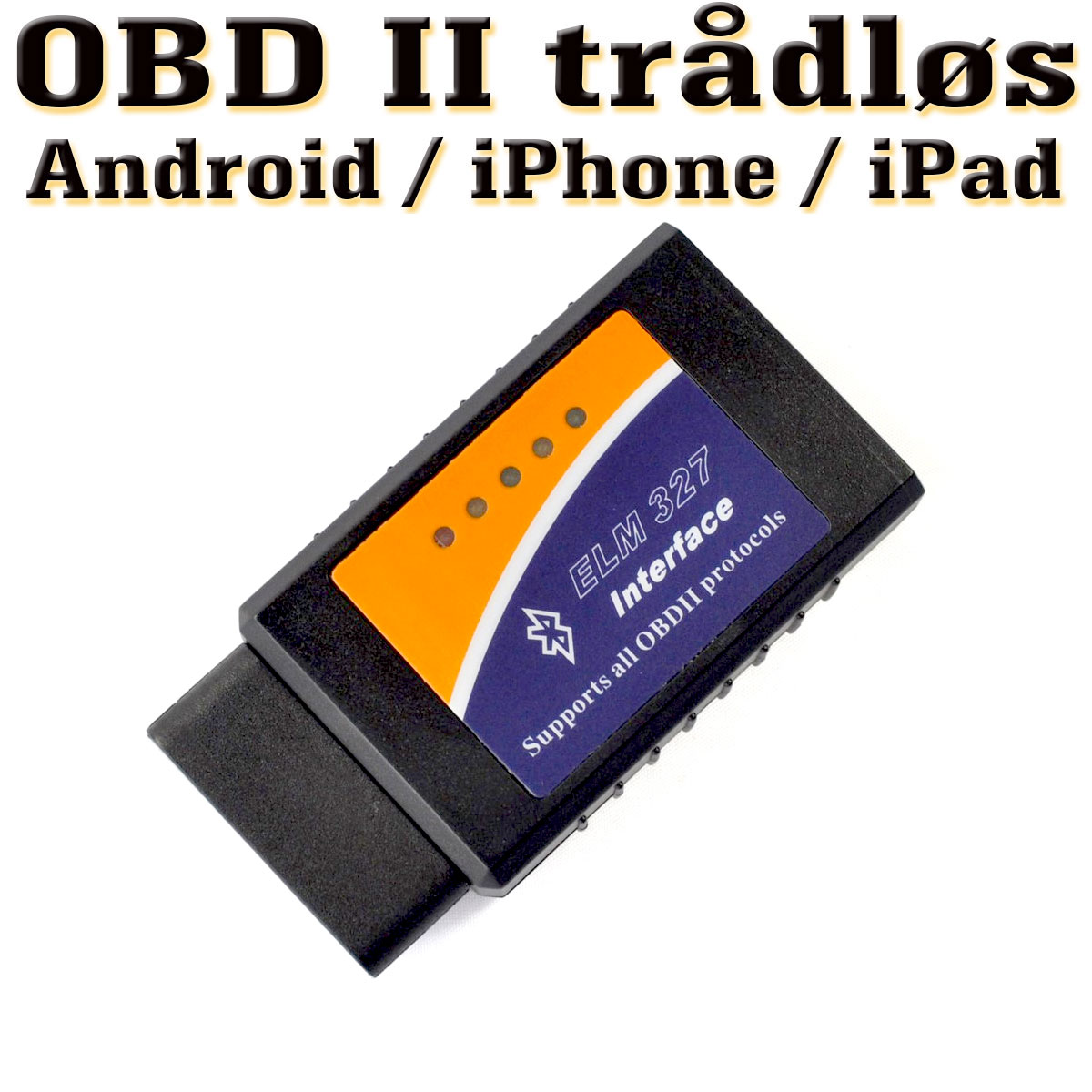 OBDII Bluetooth / WiFi / iPhone / Android / diagnoseverktøy