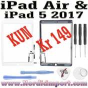 iPad Air & iPad 5 (2017) skjerm m/ touch & montert limstriper