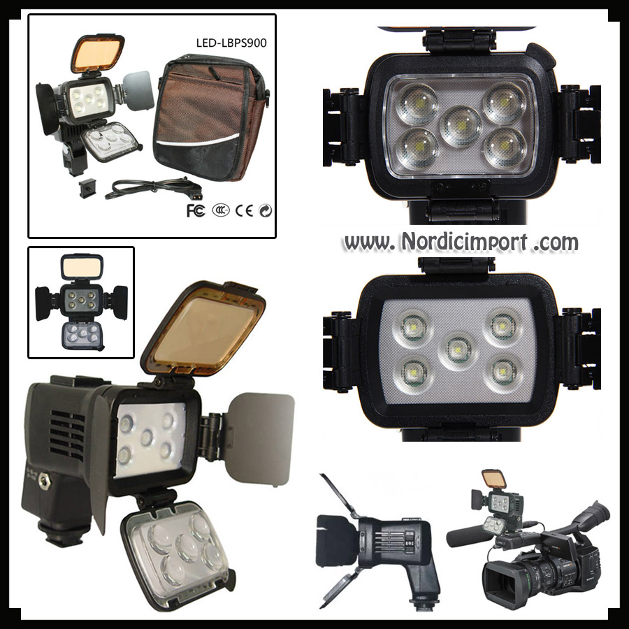10W Cree LED video/kamera-lys m/ 6000 mAh batteri- Anbefales!