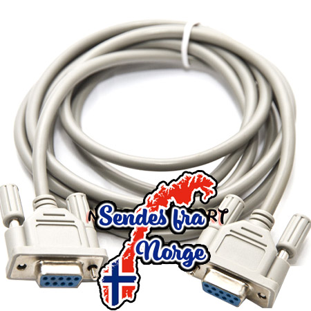 DB9 Serial Null-modem kabel